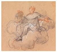 figure plafonnante au manteau de lys by antoine coypel