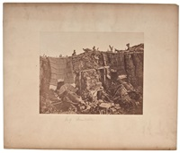 a two gun battery during the crimean war by roger fenton