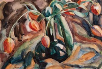 still life with tulips by leo gestel