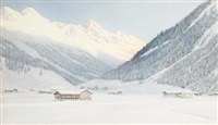 a snowy alpine landscape by george nelson