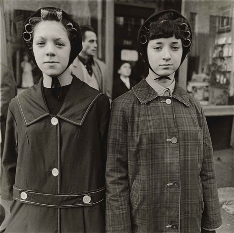two girls in curlers nyc by diane arbus