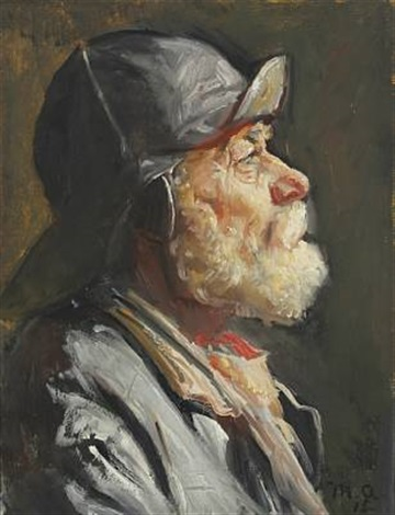 portrait of a fisherman from skagen by michael peter ancher