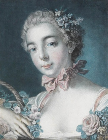 tête de flore after boucher by louis marin bonnet