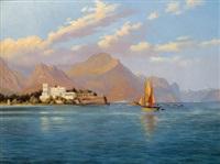 blick auf die isola bella im lago maggiore by h. altmann
