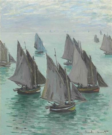 bateaux de pêche temps calme by claude monet