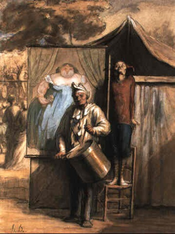 la parade by honoré daumier