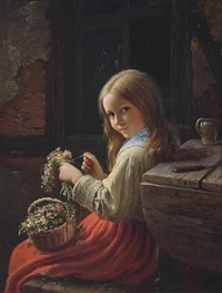 the little flower girl by johann georg meyer von bremen