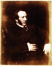 mr. clowe, a picture collector, liverpool by david octavius hill and samuel-adam salomon
