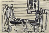 totenklage (sketch) by nikolai andronov