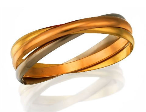 trinity bangle by cartier
