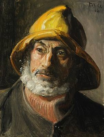 portrait of a fischerman from skagen by michael peter ancher