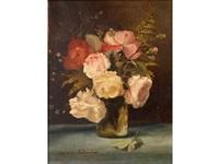 vase de roses by marguerite ludovici