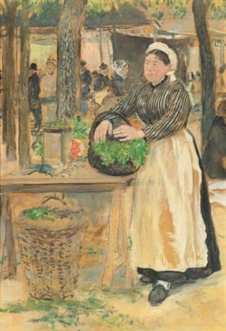 la cuisinière au marché by jean françois raffaëlli