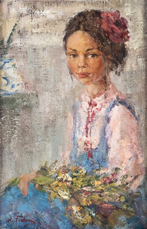 Little native girl by nicolai fechin on artnet for Nicolai fechin paintings for sale