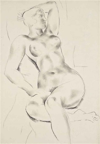 seated nude by christopher wood