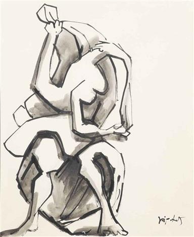 danseuse aux voiles study by jacques lipchitz
