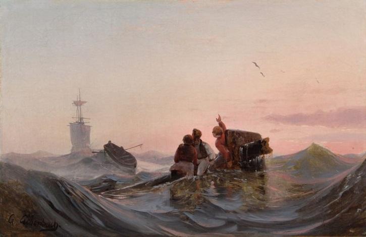 rettung der schiffbrüchigen by andreas achenbach
