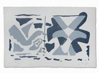 fenêtre ii: oiseau gris (from guillaume apollinaire: si je mourais là-bas) by georges braque