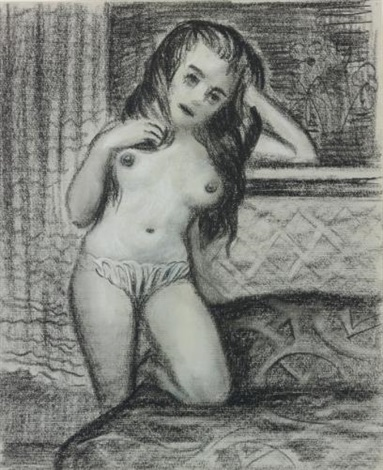 black haired nude by john currin