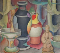 still life with trumpets by adele younghusband