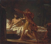 a roman general in his bedchamber by théodore géricault