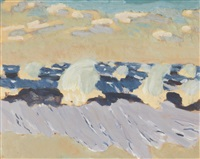 untitled (seascape, ocean waves) by fairfield porter