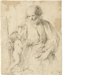 saint joseph and the christ child by guercino