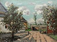 village scene by theodore emile achille