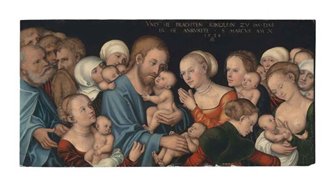suffer the little children to come unto me by lucas cranach the younger