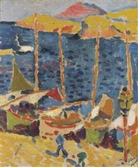 bateaux au port de collioure by andré derain