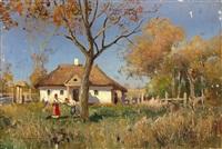 hut in oposhnya, ukraine by sergei ivanovich vasil'kovsky