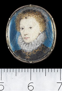 portraits of elizabeth i (+ robert dudley; pair) by nicholas hilliard