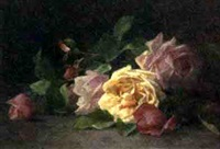 still life with roses by louis marie lemaire