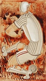 fotbollsspelare (soccer player) by gösta (gan) adrian-nilsson