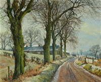 winter landscape, perthshire by james mcintosh patrick