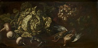 nature morte aux crabes et chou by vincenzo campi