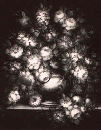 floral still life by miguel rodriguez