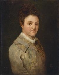 portrait einer jungen frau by gioacchino toma
