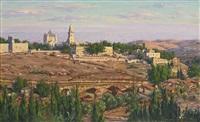 panorama of jerusalem by ludwig blum
