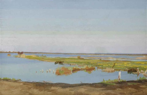 a view of the loosdrechtse plassen by dirk smorenberg