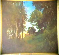 vue d'un mas provencal by antoine eugène ernest buttura