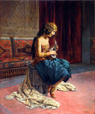 the young musician by antonio maria fabres y costa