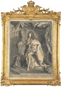 louis le grand (after hyacinthe rigaud) by pierre drevet