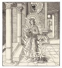 die heilige ricarda, pl. 86 (from sipp-, mag- und schwägerschaft des kaisers maximilian i.) by leonhard beck