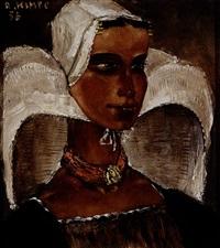 boerinnetje (walcherens jong meisje met kinderkap) by reimond kimpe