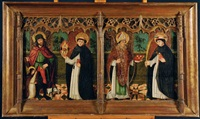 quatre saints sont représentés dont saint roch, saint nicolas et saint pierre martyr by french school (15)