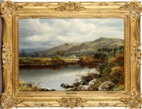 the river wye by william henry mander