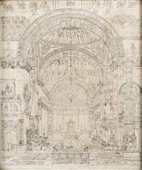 interieur d'eglise de style byzantine by charles percier