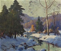 winter stream by harry townsend