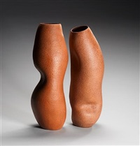 double vase forms (2 works) by irene vonck